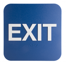 "EXIT SIGN WITH BRAILLE 6"" X 6"""