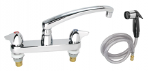 "8"" KITCHEN FAUCET W/ 8"" SPOUT & SPRAY"
