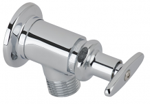 "1/2""  HEAVY PATTERN BIBB FAUCET CHROME"
