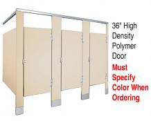"36"" HIGH DENSITY POLYMER DOOR W/HDWE"