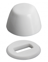 WHITE ROUND BOLT COVER W/WASHER