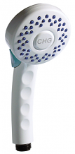 INSTITUTIONAL HAND HELD ANTIMICROBIAL SHOWER HEAD  W/PUSH BUTTON