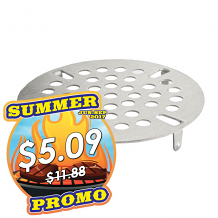 """3-7/16"""" OD S/S LEVER WASTE STRAINER"""