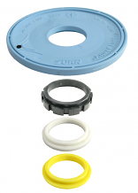 FLUSH VALVE DIAPHRAGM W/FLOW RINGS