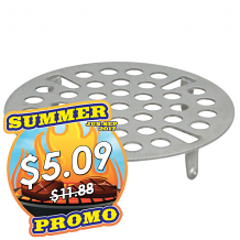 """3-1/8"""" OD S/S LEVER WASTE STRAINER"""