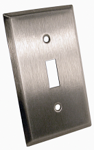 ANTIMICROBIAL S/S SINGLE SWITCH PLATE