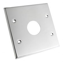 COVER PLATE FOR CLOSET - CHROME