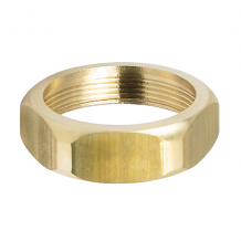 HANDLE - COUPLING NUT (ROUGH BRASS)