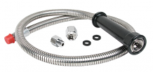 "44"" STAINLESS HOSE WITH ADAPTERS"