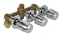 TUB & SHOWER VALVE-THREE HANDLE