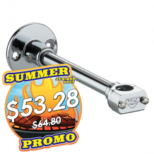 "WALL BRACKET - 6"" CHROME"