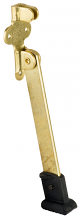 "6"" BRASS PLATED HEAVY DOOR STOP"
