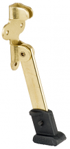 "4"" BRASS PLATED HEAVY DOOR STOP"