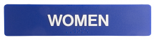 "WOMEN SIGN STRIP 6"" X 1-3/4"""