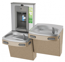 SPLIT LEVEL WATER COOLERS W BOTTLE FILLING STATION