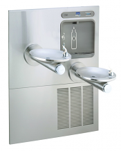 TWO-LEVEL SWIRLFLO WALL MOUNT WATER COOLER AND EZH2O BOTTLE FILLER