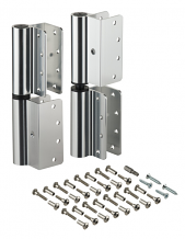 ALUM WRAP-AROUND HINGE SET