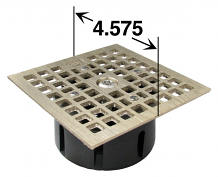 LOCKING DRAIN GRATE SQUARE NICKEL BRONZE - REPLACES SMITH