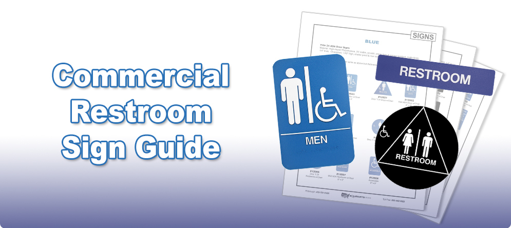 Commercial Restroom Sign Identification and Selection Guide