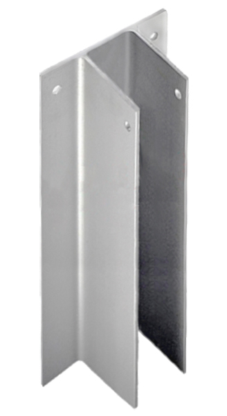 """CONTINUOUS """"F"""" BRACKET FOR PARTITION 1-1/4"""" x 54"""" SS"""
