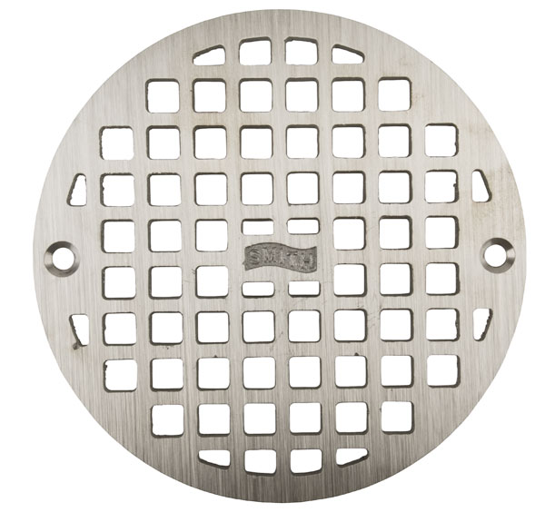 """6-3/8"""" ROUND REPLACEMENT GRATE W/SCREWS"""
