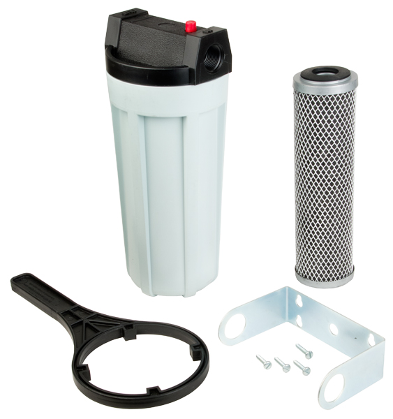 WHOLE HOUSE HIGH-FLOW FILTER SYSTEM W/WRENCH