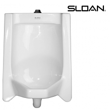 COMPLETE VITREOUS CHINA TOP SPUD URINAL - 0.125 THRU 1.0 GPF