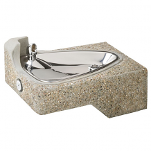HAWS - BARRIER-FREE DRINKING FOUNTAIN CONCRETE W/EXPOSED AGGREGATE W/IN-WALL MOUNTING PLATE