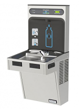 "S/S BOTTLE FILLING STATION W/SINGLE ""GREEN"" ADA COOLER W/ FILTER"