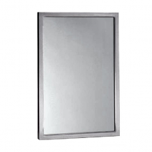 """S/S ANGLE WELDED FRAME MIRROR 24"""" X 36"""""""