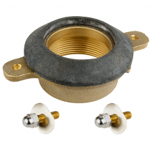 """BRASS URINAL OUTLET SPUD 2"""" IPS W/ 4"""" BOLT HOLE CENTERS"""