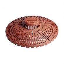 UNCLOGGABLE ROOFGUARD CAST IRON WITH UNIVERSAL MEMBRANE CLAMP RING
