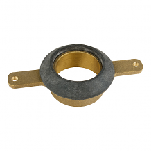 """BRASS URINAL OUTLET SPUD 2"""" SWEAT W/ 5-1/2"""" BOLT HOLE CENTERS"""