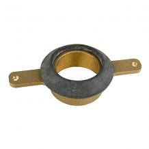 """BRASS URINAL OUTLET SPUD 2"""" SWEAT W/ 4-1/4"""" BOLT HOLE CENTERS"""