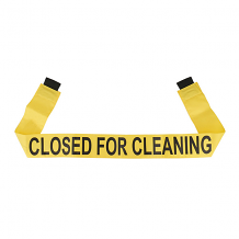"""CLOSED FOR CLEANING"" - YELLOW MAGNETIC DOOR BARRIER FOR 36"" DOORWAY"