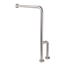 GRAB BAR - WALL TO FLOOR W/RH OUTRIGGER
