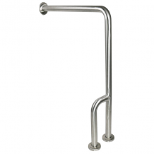 GRAB BAR - WALL TO FLOOR W/LH OUTRIGGER