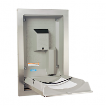 S/S VERTICAL RECESSED BABY CHANGING STATION