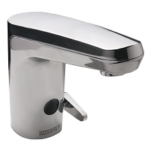 SINGLE HOLE SENSOR FAUCET W/ INTERGRATED THERMOSTATIC PROTECTION .5 GPM BATTERY OPERATED