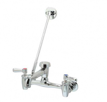 """AQUASPEC XL SERVICE SINK FAUCET 8"""" BACK MOUNTED WITH VB SPOUT & WALL BRACE"""
