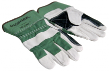DOUBLE LEATHER PALM GLOVES (LG)