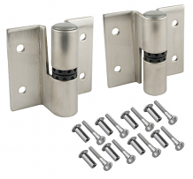 LH-IN SS SURFACE HINGE SET-SELF CLOSING