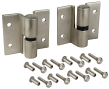 RH-IN SS SURFACE HINGE SET-SELF CLOSING