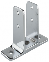 """DOUBLE EAR URINAL SCREEN BRACKET 1-1/4"""" x 3-1/2"""" FOR PARTITION"""