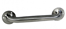 """S/S GRAB BAR 12"""" STRAIGHT EXPOSED FLANGE"""