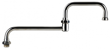 """DOUBLE JOINTED SWING SPOUT 15"""" CP"""
