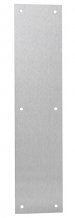 """PUSH PLATE 4"""" x 16"""" S/S WITH HOLES"""